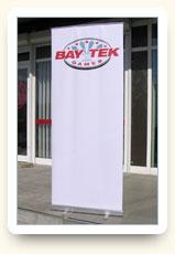 Ролл-ап Бюджет 80х200 см - Bay Tek Games